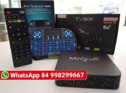Tv box com teclado mxq pro ott 64gb de memoria 4gb de RAM Android 10.0
