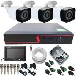 Kit câmera de segurança (barato) menor preço