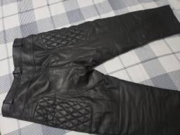 Calça motociclista couro legítimo
