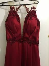Vestido de formatura vermelho
