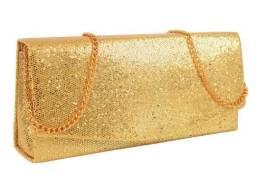 Bolsa Clutch Carteira Alto Relevo Com Alça De Corrente