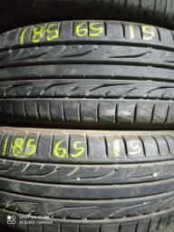 Vendo 2 pneus 185/65/15 DUNLOP