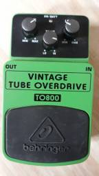 Pedal behringer vintage tube overdrive t0800