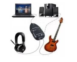 Guitar Link Usb Interface De Áudio -faça sua gravação com facilidade e baixo custo