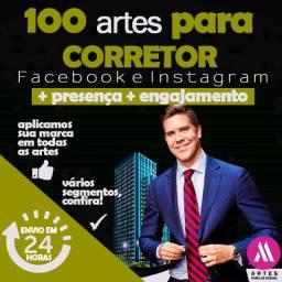 Pacote Artes Redes Sociais - Para Corretores de Imóveis e Imobiliárias