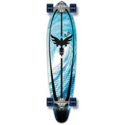 """Kicktail Longboard Skate 39"""" x 9"""" + Acessórios Novos"""