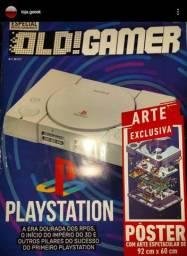 Coleção Old gamer Playstation one + pôster