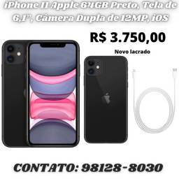 IPhone Apple 11 64GB Preto Novo