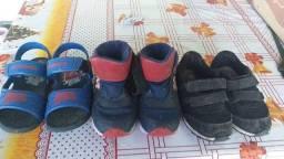 Lote sapato infantil masculino