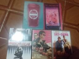 3 dvds e 2 livros