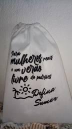 Embalagens (saquinhos de tnt)