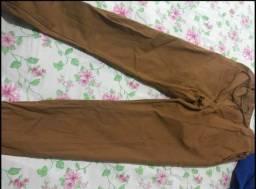 Calça jeans camuflada e lisa masculina Jogger C punho Lycla