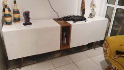 Aparador Casa Shopping Madeira Maciça Branco - 2m