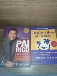 Livros Pai Rico Pai Pobre/Trabalhe 4 hrs por semana