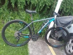 Bike aro 29 freio hidráulico 27v suspensão com trava parcelo até 12 vezes