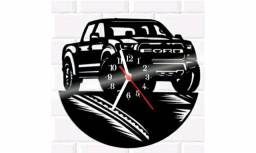 Título do anúncio: Relógio De Vinil Disco LP Parede Ford Carro.