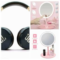 Combo Dia Das Maes Espelho com Luz de Led + Fone de Ouvido JBL Headphone Gratis
