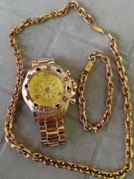 Relógio invicta fusion,pulseira,junto com corrente.