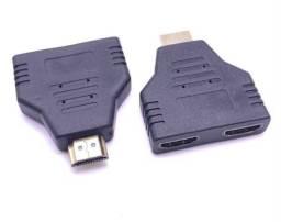 Adaptadores HDMI macho para 2 HDMI fêmea para conexão de TV/pc e etc