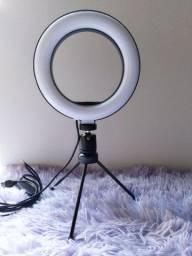 Ring light de mesa simples