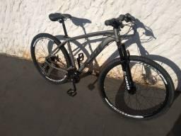 Bicicleta Aro 29 Ksw Shimano 24 Vel A Disco Ltx - Grafite+Preto<br>