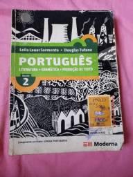 Livro de literatura, gramática e produção de texto