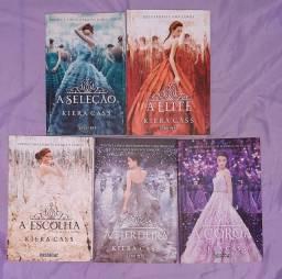 """Livros da trilogia """"A Seleção"""" + 2 livros """"A Herdeira"""" e """"A Coroa"""""""