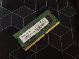 Memória RAM notebook DDR4 4GB