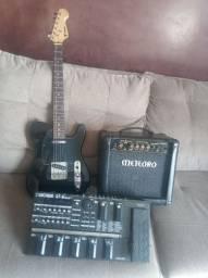 A!!! Oportunidade!!! É agora!!! Kit guitarra, cubo+pedaleira!!!  R$2.000,00