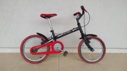 Bicicleta Infantil Caloi Hotwheels Aro 16