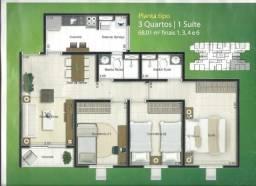 Baixou R$ 10mil - Fit Jardim Botânico, 14 andar, apto 3 quartos, garagem coberta