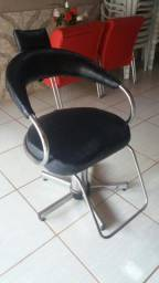 Cadeira hidráulica cabeleireiro