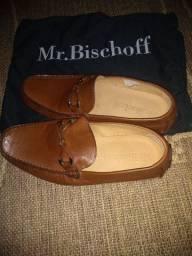Sapato Mocassim de couro Mr. Bischoff, tamanho 40, novo, nunca usado