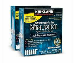 Minoxidil Kirkland, Caixa Lacrada com 06 frascos