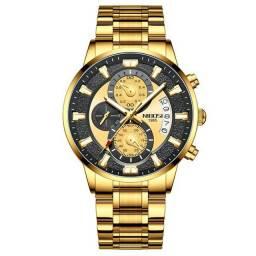 Relógio NIBOSI original aprova d'água vidro resistente a riscos apronta entrega