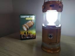 2 em 1 Lampião Para Barraca - Lanterna - Recarregável