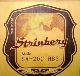 ZERADO Violão Strinberg SA-20C HBS Eletroacústico Aço