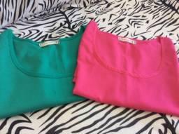 Lindas regatas nas cores pink e verde vivo.Disponíveis no tamanho M