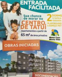 Apartamentos no centro de Tatui-SP suíte e sacada
