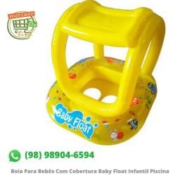 Boia Para Bebês Com Cobertura Baby Float Infantil Piscina
