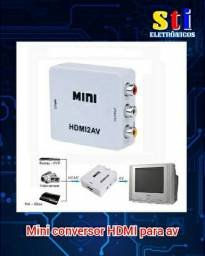 Mini conversor HDMI para AV