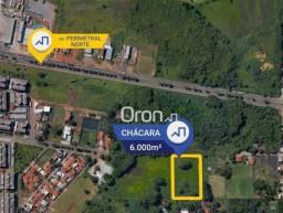 Terreno à venda, 6000 m² por R$ 2.400.000,00 - Chácaras Retiro - Goiânia/GO