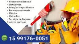 Instalações, manutenções e pequenos reparos