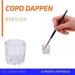 Copo Dappen Vidro Mistura Pó Liquido Monomer Acrigel Henna