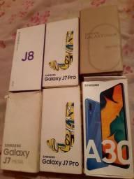 Caixas de celular pra levar logo