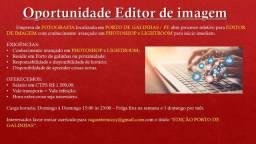 Oportunidade para editor de imagem em Porto de Galinhas /PE