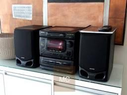 Som System Aiwa NSX 999 com Controle e Manual