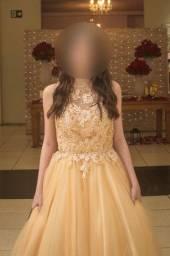 Vestido de Debutante Dourado (Venda)