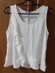Blusa crepe off-white