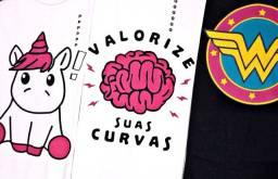 Camiseta Baby Look Feminina Diversas Estampas